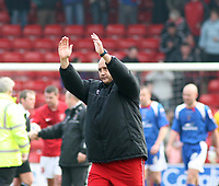Photo: Mark Stephenson.<br />Walsall v Accrington Stanley. Coca Cola League 2. 31/03/2007. Walsall's manager Money thanks the fans after the game