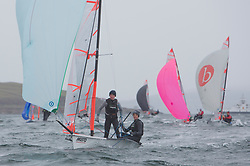 The annual RYA Youth National Championships is the UK's premier youth racing event. Day 3 with winds backing to the North the racing started on the Largs Channel.<br /> <br /> 2289, Pierce Harris, Alfie Cogger, Windermere School, 29er Boy <br /> <br /> Images: Marc Turner / RYA<br /> <br /> For further information contact:<br /> <br /> Richard Aspland, <br /> RYA Racing Communications Officer (on site)<br /> E: richard.aspland@rya.org.uk<br /> m: 07469 854599