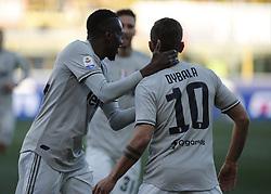 February 24, 2019 - Bologna, Italy - Juventus team during Serie A 2018-2019 match between Bologna v Juventus, in Bologna, on February 24, 2019  (Credit Image: © Loris Roselli/NurPhoto via ZUMA Press)