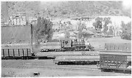 D&RGW #268 at Durango in Bumblebee paint.  Several freight cars are also in view.<br /> D&RGW  Durango, CO  Taken by Springer, Fred M. - 6/25/1951