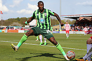 Ade Azeez forward for AFC Wimbledon (14) in action during the Sky Bet League 2 match between Stevenage and AFC Wimbledon at the Lamex Stadium, Stevenage, England on 30 April 2016. Photo by Stuart Butcher.
