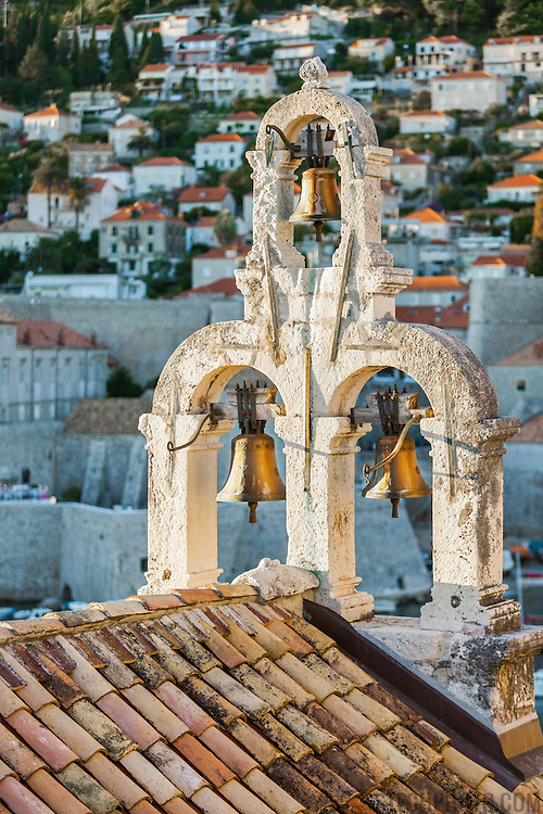"""The bells of St. Sebastian Church in Dubrovnik, Croatia. <br /> <br /> Dubrovnik serves as the official setting of """"King's Landing"""" from the popular TV show """"Game of Thrones""""."""