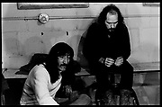 Fall River, Massachusetts - 18 February 1968. (Left to right) Jimmy Carl Black, and Ray Collins of the Mothers of Invention backstage prior to a performance. © 2020 Ed Lefkowicz<br /> <br /> For licensing of any of the images in this portfolio go to https://www.mptvimages.com/<br /> <br /> For fine art prints, get in touch with me directly.
