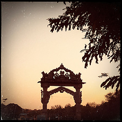 iPhone photo of an arch in a village outside of Banswara, Rajasthan, India, April 6, 2013. Under Indian law, children younger than 18 cannot marry. Yet in a number of India's states, at least half of all girls are married before they turn 18, according to statistics gathered in 2012 by the United Nations Population Fund (UNFPA). However, young girls in the Indian state of Rajasthan—and even a few boys—are getting some help in combatting child marriage. In villages throughout Tonk, Jaipur and Banswara districts, the Center for Unfolding Learning Potential, or CULP, uses its Pehchan Project to reach out to girls, generally between the ages of 9 and 14, who either left school early or never went at all. The education and confidence-building CULP offers have empowered youngsters to refuse forced marriages in favor of continuing their studies, and the nongovernmental organization has provided them with resources and advocates in their fight.