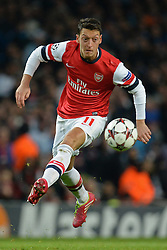 26.11.2013, The Emirates Stadium, London, ENG, UEFA CL, FC Arsenal vs Olympique Marseille, Gruppe F, im Bild Arsenal's Mesut Ozil // Arsenal's Mesut Ozil during UEFA Champions League group F match between FC Arsenal and Olympique Marseille at the The Emirates Stadium in London, Great Britain on 2013/11/26. EXPA Pictures © 2013, PhotoCredit: EXPA/ Mitchell Gunn<br /> <br /> *****ATTENTION - OUT of GBR*****