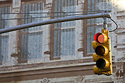 Traffic Light on red, New York, United States of America RESERVED USE - NOT FOR DOWNLOAD -  FOR USE CONTACT TIM GRAHAM