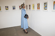 MARIE DONELLY, Francesco Clemente Private view,  Emblems of Transformation. Blain Southern. London. 28 April 2015