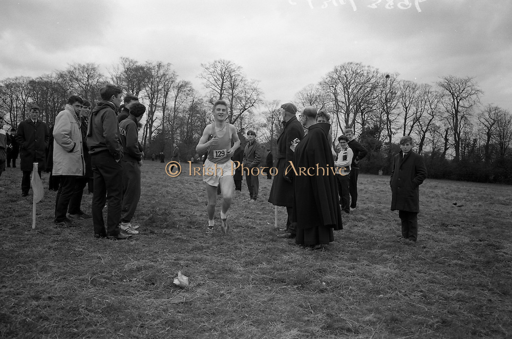 23/03/1966<br /> 03/23/1966<br /> 23 March 1966<br /> All Ireland Colleges Cross Country Championships held at Belfield, Dublin. Donal Walsh, North Monastery C.B.S. Cork, winning the All Ireland Colleges Cross Country Championship from Noel  Forestal, C.B.S. (Toolmaker) and D. MacCormac, (Colaiste Mhuire).