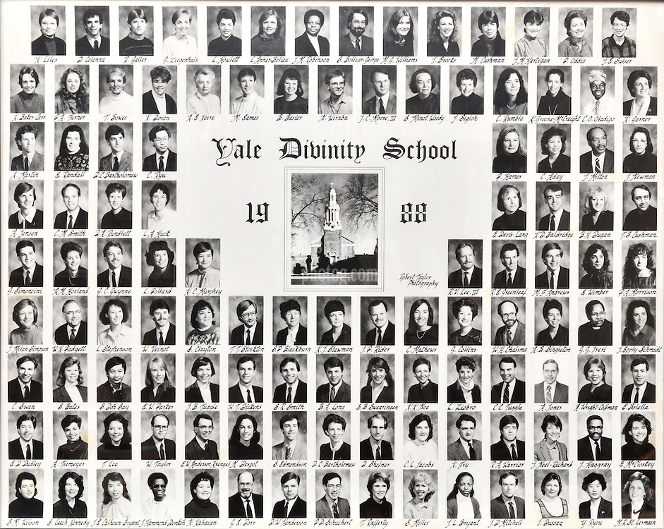 1988 Yale Divinity School Senior Portrait Class Group Photograph
