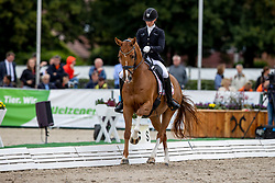 Sejbjerg Jensen Mette, DEN, Nobelle<br /> World Championship Young Horses Verden 2021<br /> © Hippo Foto - Dirk Caremans<br /> 25/08/2021