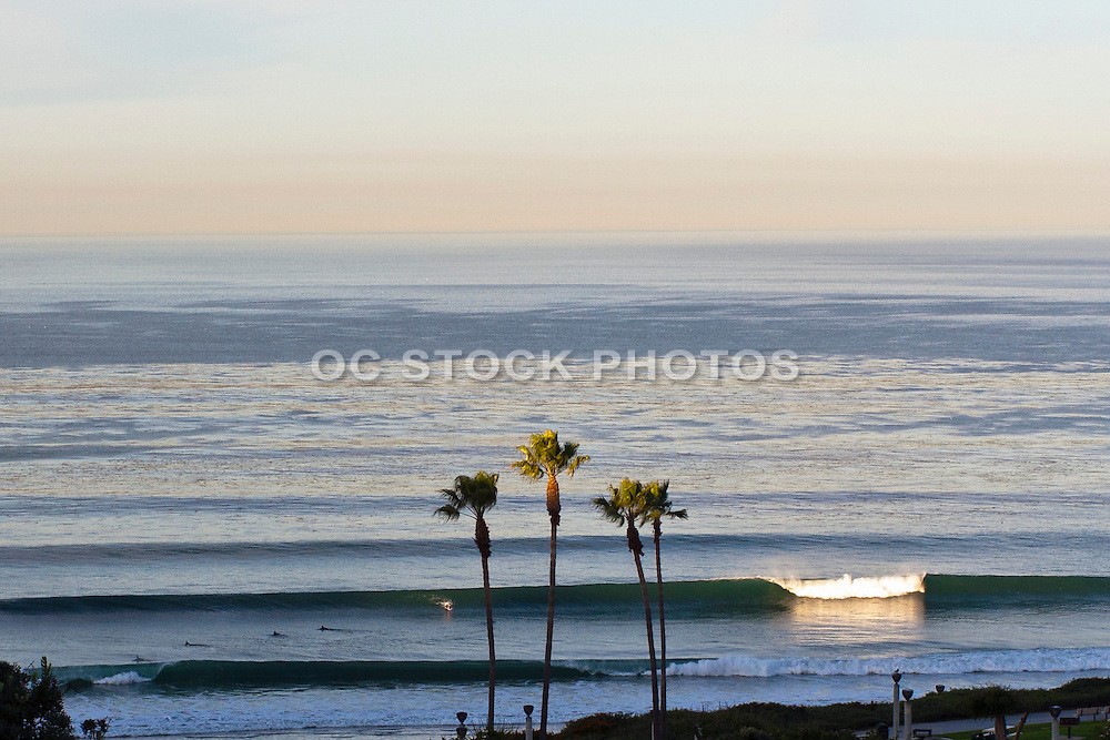 Waves at Salt Creek Beach in Dana Point at Sunrise