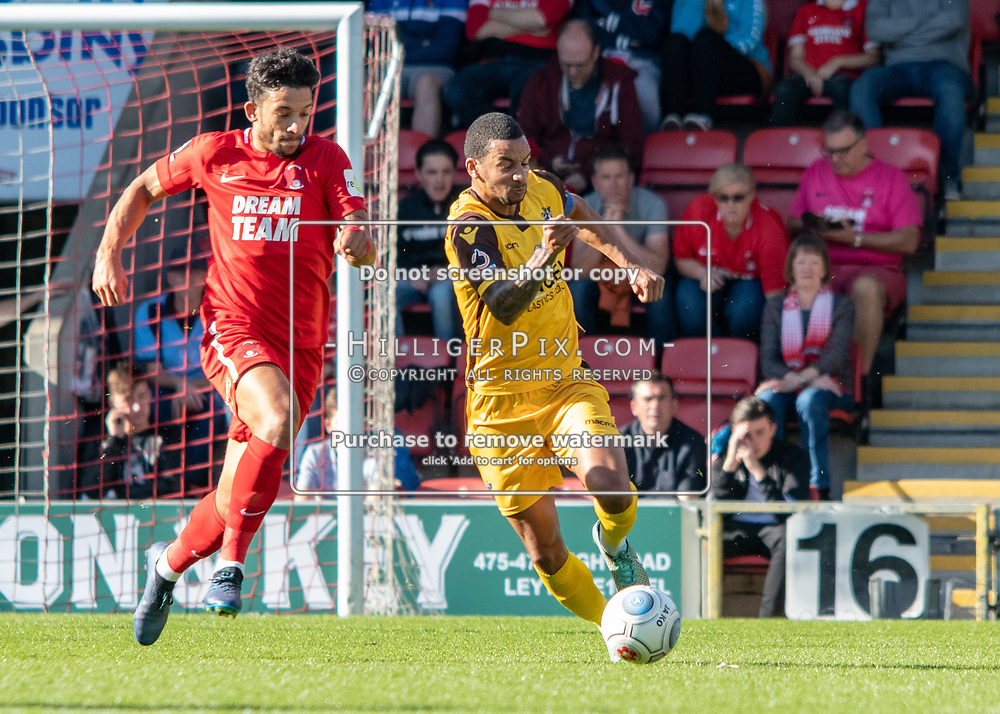 LONDON, UK - SEPTEMBER 29: The Vanarama National League match between Leyton Orient and Sutton United at The Breyer Group Stadium on September 29, 2018 in London, UK. (Photo by Jon Hilliger)