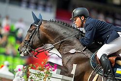 Oleksandr Onishchenko, (UKR), Valentino Velvet - Team & Individual Competition Jumping Speed - Alltech FEI World Equestrian Games™ 2014 - Normandy, France.<br /> © Hippo Foto Team - Leanjo De Koster<br /> 02-09-14