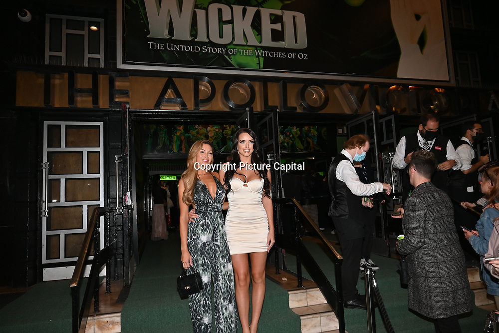 Emma Hatton attended, A Gala Performance of Wicked. In celebration of its 15th Anniversary in London at Apollo Victoria Theatre, London, UK. on 28th September 2021.