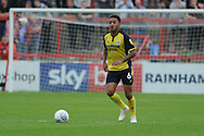 Scunthorpe United Midfielder, Funso Ojo (6)  during the EFL Sky Bet League 1 match between Accrington Stanley and Scunthorpe United at the Fraser Eagle Stadium, Accrington, England on 1 September 2018.
