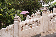Ornate stairway at the Temple of Confucius in Beijing, China
