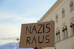 June 23, 2017 - Munich, Bavaria, Germany - More than 300 antifascists gathered in Munich to protest for a open and united Schwabing. The reason for the demonstration is the extreme right congress of the fraternity Danubia. (Credit Image: © Alexander Pohl/Pacific Press via ZUMA Wire)