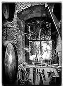Still life in window at Mayacamas winery, California
