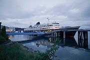 Alaska Ferry boat MV Fairweather along the Alaska marine highway system on the Inside Passage.,