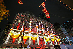 November 19, 2018 - New York, NEW YORK, UNITED STATES - Light show at the Saks Store on Fifth Avenue in New York in the United States on Monday night, 19. (Credit Image: © William Volcov/ZUMA Wire)
