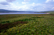 A23A0Y Cow Green reservoir, River Tees, northern Pennines, County Durham, England