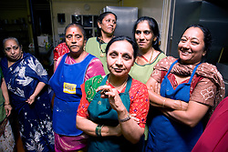 Group of women preparing to celebrate Navratri; the Hindu festival of Nine Nights,