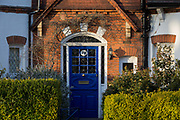 At the beginning of the second week of the UKs Coronavirus lockdown, the front door of an Edwardian period home where owners are behind locked doors, in accordance with government guidelines for social distancing and family group isolation, on 30th March 2020, in south London, England.