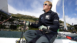 Ian Williams, GBR. On board Team GAC Pindar. St Moritz Match Race 2010. World Match Racing Tour. St Moritz, Switzerland. 31st August 2010. Photo: Ian Roman/Subzero Images.