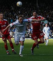 Photo: Steve Bond/Richard Lane Photography. Leeds United v Swindon Town. Coca Cola League One. 14/03/2009. Luciano Beccio (L) and Gordon Greer (R) chase the ball