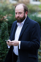 Downing Street, London, March 14th 2017. PM Theresa May's chief strategist Nick Timothy arrives at Downing Street, London, following yesterday's vote in Parliament to allow Prime Minister Theresa May to go ahead with triggering Article 50 beginning the Brexit process of withdrawing from the European Union.