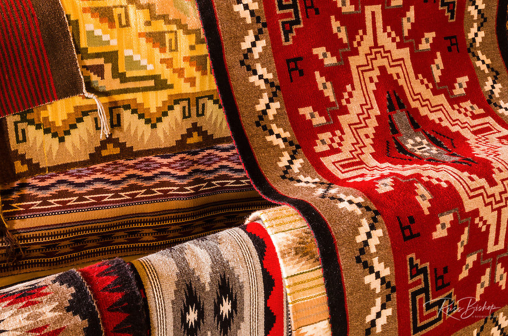 Navajo rugs, Hubbell Trading Post National Historic Site, Arizona USA