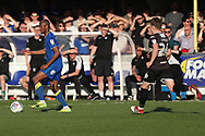 AFC Wimbledon midfielder Jimmy Abdou (8) dribbling during the EFL Sky Bet League 1 match between AFC Wimbledon and Bury at the Cherry Red Records Stadium, Kingston, England on 5 May 2018. Picture by Matthew Redman.