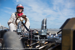 Jesse Combs driving her Craftsman sponsored car at the Race of Gentlemen. Wildwood, NJ, USA. October 10, 2015.  Photography ©2015 Michael Lichter.
