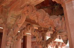 Interior detail at Fatehpur Sikri; ancient site near Agra; India,