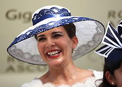 Princess Haya bint Al Hussein of Jordan during day one of Royal Ascot at Ascot Racecourse.