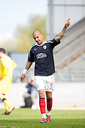 Falkirk's Farid El Alagui subbed near the end..Falkirk 3 v 2 Ayr United, 5/5/2012..©Michael Schofield..