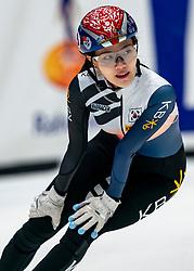 Yu Bin Lee KOR in action on the 1000 meter during ISU World Cup Finals Shorttrack 2020 on February 15, 2020 in Optisport Sportboulevard Dordrecht.