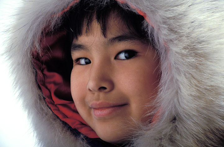 Young Inupiaq girl in parka, North Slope, Alaska
