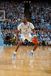 CHAPEL HILL, NC - FEBRUARY 25: Brandon Robinson #4 of the North Carolina Tar Heels plays during a game against the North Carolina State Wolfpack on February 25, 2020 at the Dean Smith Center in Chapel Hill, North Carolina. North Carolina won 79-85. (Photo by Peyton Williams/UNC/Getty Images) *** Local Caption *** Brandon Robinson
