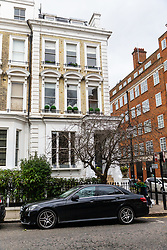 """The Phillimore Gardens building housing the AirBNB £2.5m five-bedroom flat, home of American divorcee Elizabeth Sterling where an AirBnB booking for a """"hen party for eight"""" turned into a wild party with dozens of revellers. Kensington, London, January 27 2019."""
