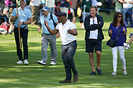 Ian Wright sharing a joke with the fans during the Celebrity Pro-Am day at Wentworth Club, Virginia Water, United Kingdom on 23 May 2018. Picture by Phil Duncan.