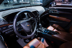 NEW YORK, USA - MARCH 23, 2016: Cadillac ATS interior on display during the New York International Auto Show at the Jacob Javits Center.