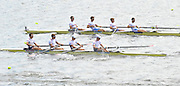Hamilton, NEW ZEALAND.  GBR LM4- move of the start in the semi-final of the lightweight men's four at the 2010 World Rowing Championships - Lake Karapiro. Thursday - 04.11.2010, Crew. Bow, Richard CHAMBERS, Paul MATTICK. Rob WILLIAMS and Chris BARTLEY. [Mandatory Credit Peter Spurrier:Intersport Images].