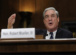 May 17, 2017 - FILE PHOTO - The Justice Department on Wednesday named ROBERT MUELLER as special counsel to oversee the department's investigation into Russian meddling in the 2016 election. Mueller III served as FBI director from 2001 through 2013. Pictured: WASHINGTON D.C., May 16, 2012  U.S. Federal Bureau of Investigation (FBI) Director Robert Mueller testifies before the Senate Judiciary Committee on oversight of the FBI in Washington D.C., capital of the United States, May 16, 2012. Mueller said Wednesday the bureau has launched an investigation into who leaked information about an al-Qaida plot to place an explosive device aboard a U.S.-bound airline flight. (Xinhua/Zhang Jun) (Credit Image: © Zhang Jun/Xinhua/ZUMAPRESS.com)