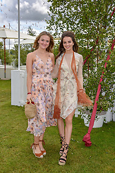 Left to right, Hannah Munnings and Catie Munnings at the Cartier Queen's Cup Polo 2019 held at Guards Polo Club, Windsor, Berkshire. UK 16 June 2019 - <br /> <br /> Photo by Dominic O'Neill/Desmond O'Neill Features Ltd.  +44(0)7092 235465  www.donfeatures.com