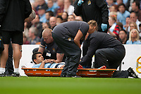 Football - Premier League - Manchester City vs. Southampton<br /> Sergio Aguero of Manchester City is stretchered off at Etihad Stadium