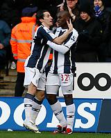 Photo: Steve Bond/Richard Lane Photography. West Bromwich Albion v Newcastle United. Barclays Premiership. 07/02/2009. Marc-Antoine Fortune (R) celebrates his equaliser