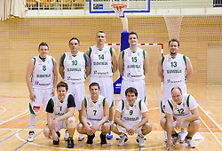 Journalists at basketball match between Slovenian Basketball journalists and  Basketball federation of Slovenia, on March 13, 2013 in Arena Vitranc, Kranjska Gora, Slovenia. (Photo by Vid Ponikvar / Sportida.com)