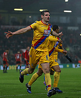 Football - 2016 / 2017 Premier League - AFC Bournemouth vs. Crystal Palace<br /> <br /> Scott Dann of Crystal Palace celebrates his goal at Dean Court (The Vitality Stadium) Bournemouth<br /> <br /> COLORSPORT/SHAUN BOGGUST
