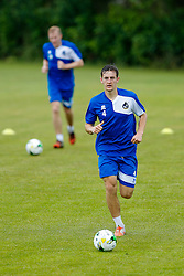 Tom Lockyer in action as Bristol Rovers return to training ahead of their 2015/16 Sky Bet League Two campaign - Photo mandatory by-line: Rogan Thomson/JMP - 07966 386802 - 02/07/2015 - SPORT - Football - Bristol, England - The Lawns Training Ground, Henbury - Sky Bet League Two.